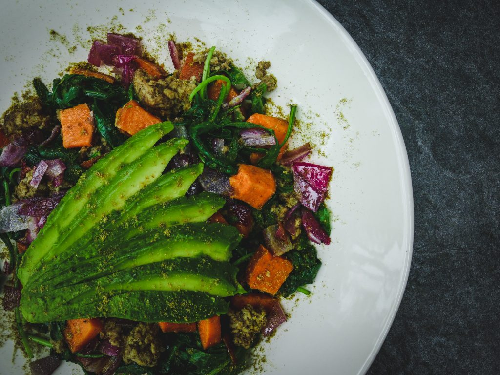sweet potato and avocado bowl