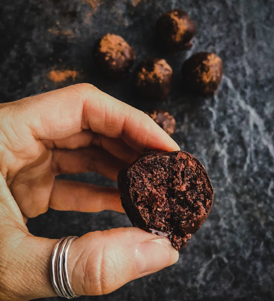 chocolate expresso cake balls healthy 2
