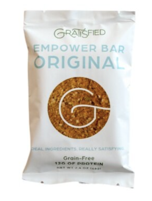 gratisfied paleo grain-free protein bar